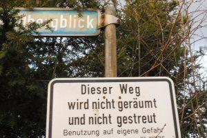 Verbindungsweg Bremthal Winterdienst