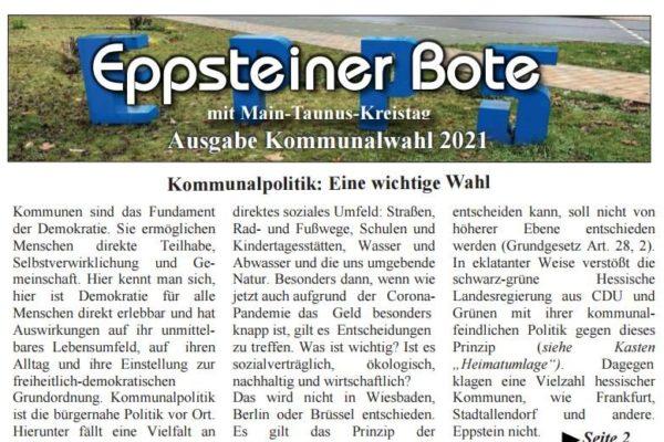 Eppsteiner Bote / Titelblatt